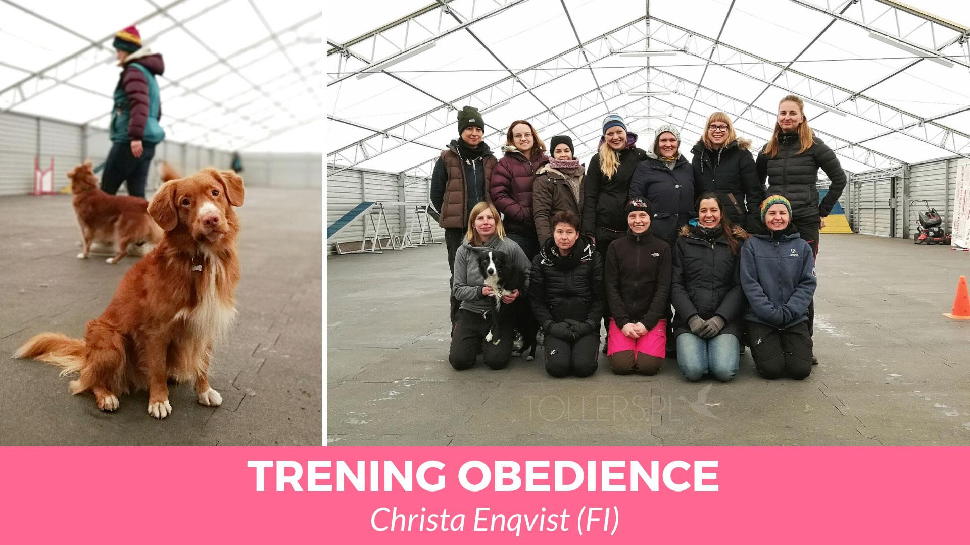Trening obedience z Christa Enqvist.